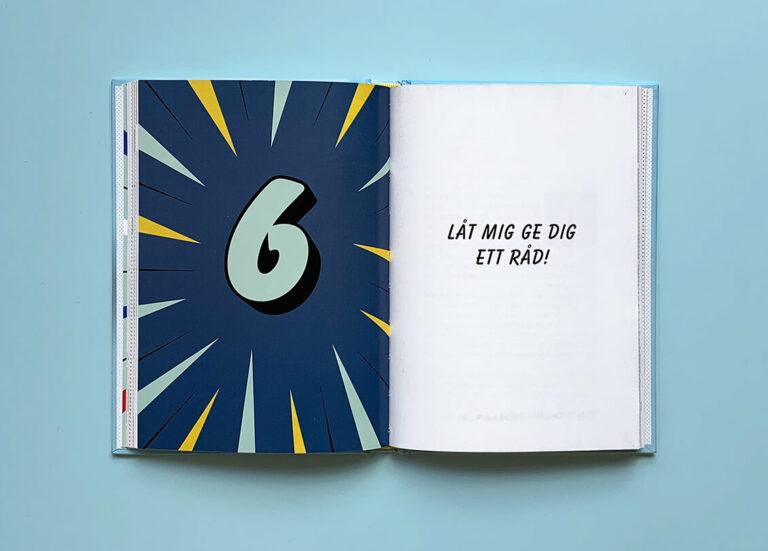 """Uppslag med kapitelstart nummer 6 i boken """"Den ultimata föräldraguiden"""""""
