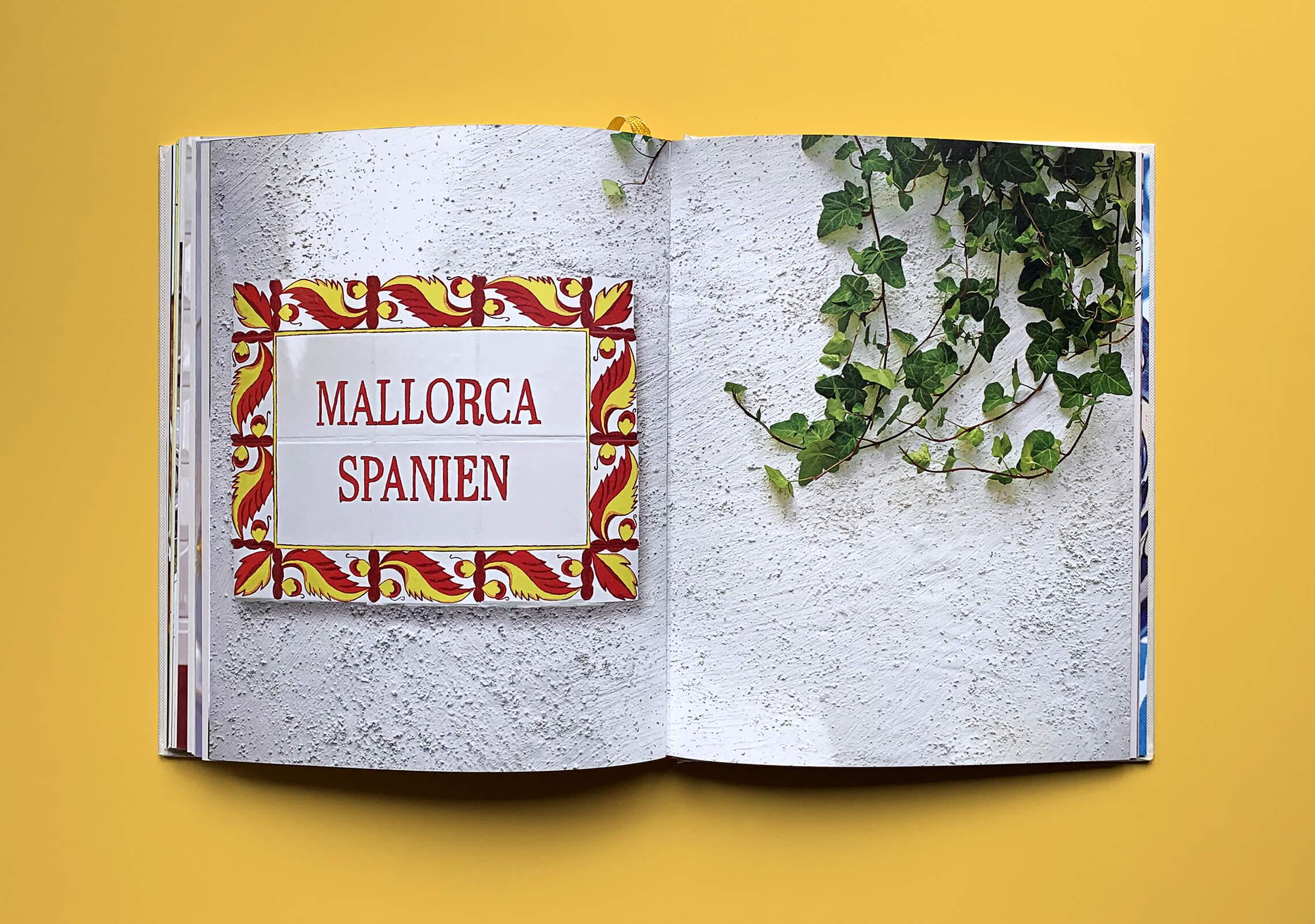"""Uppslag med kapitelstart med titeln """"Mallorca Spanien"""" i boken """"Alla älskar grillat"""" av Christian Hellberg"""