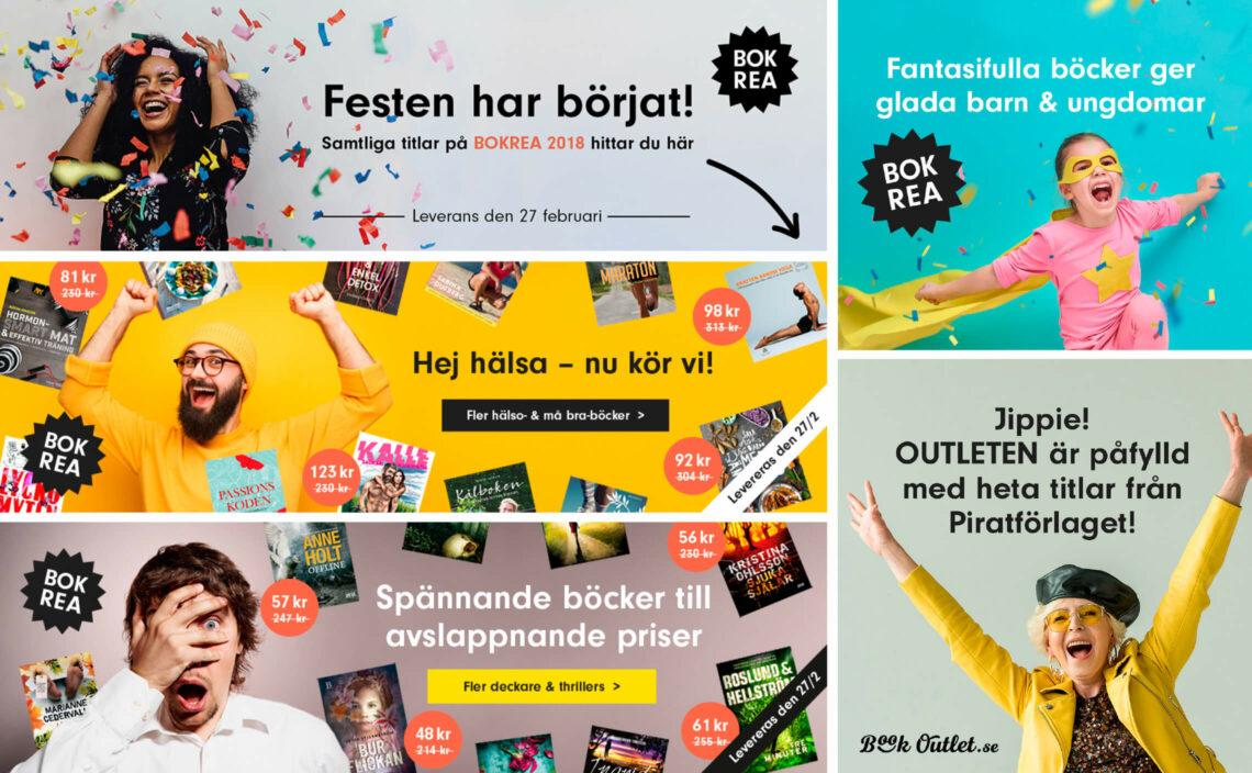 annonser för Book Outlets bokrea