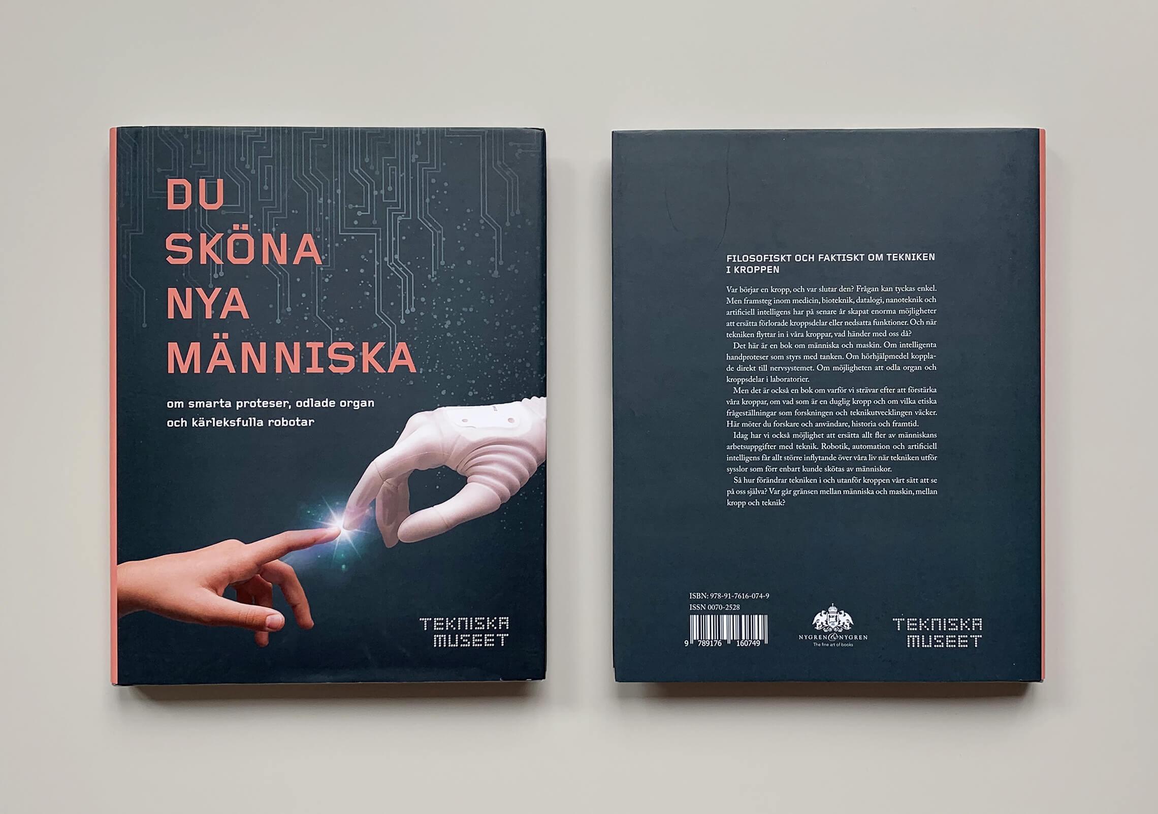 """Bokomslag (framsida och baksida) av """"Du sköna nya människa"""""""