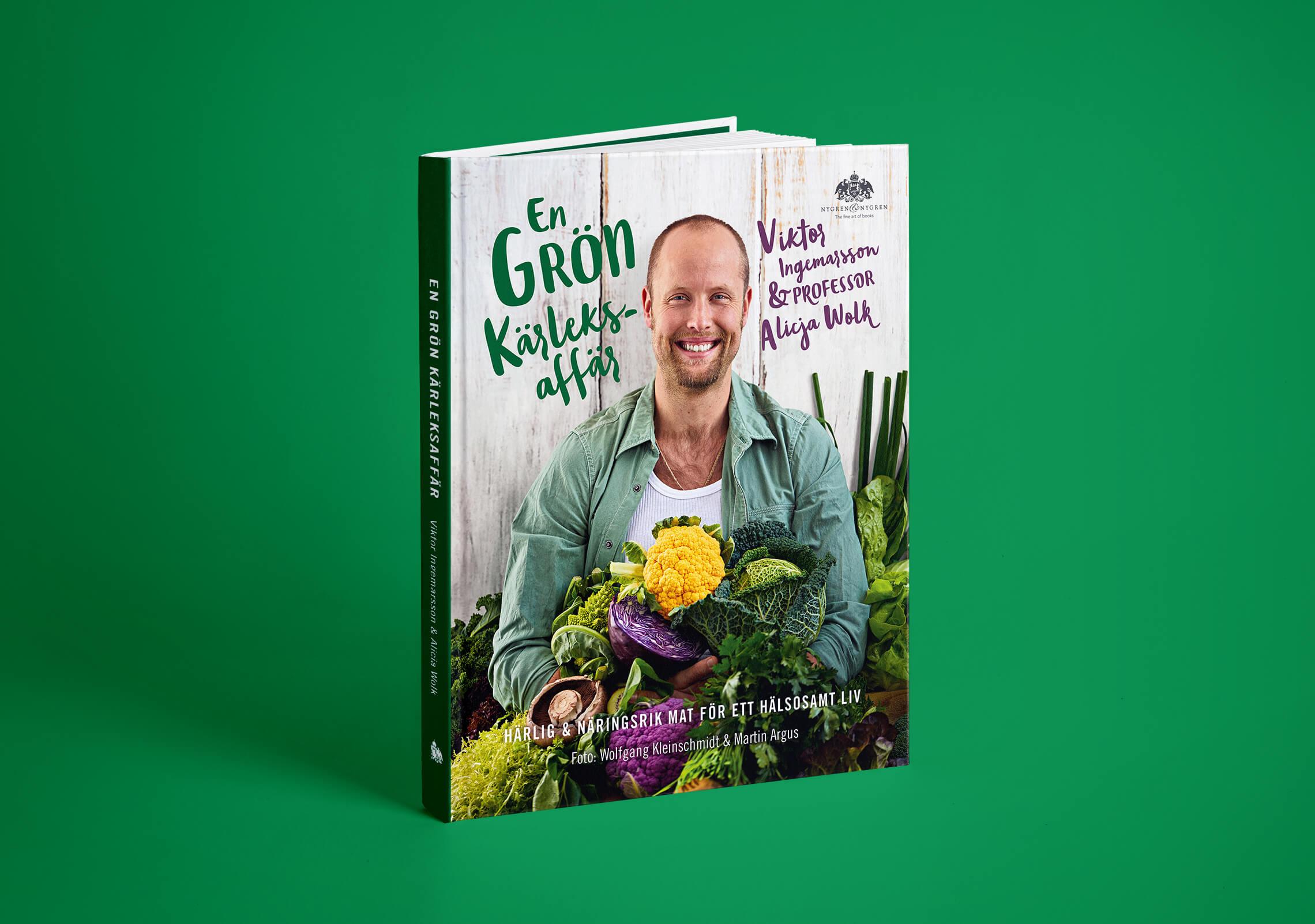 """Bokomslag (framsida) av """"En grön kärleksaffär"""""""