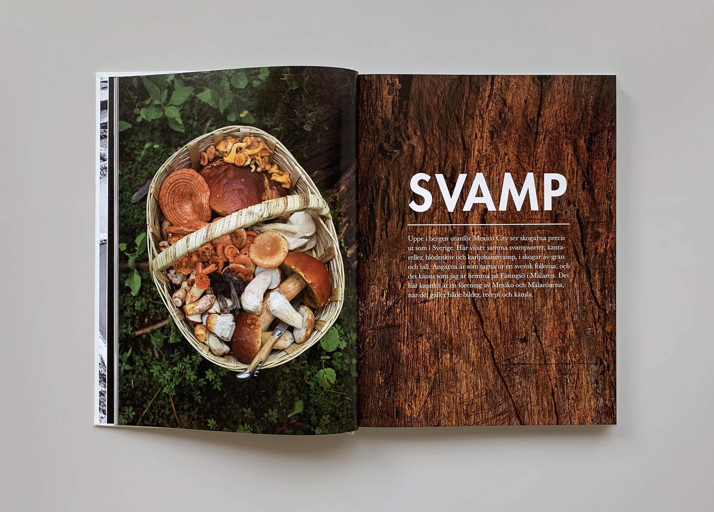 """Kapitelstart med titeln """"Svamp"""" i boken """"Mest grönt och konsten att koka bläckfisk"""""""