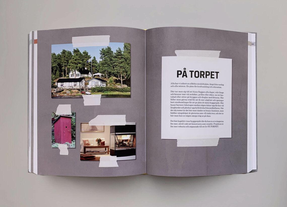 """Uppslag med kapitelstart med titeln """"På torpet"""" boken """"Stora boken för hemmfixaren"""""""