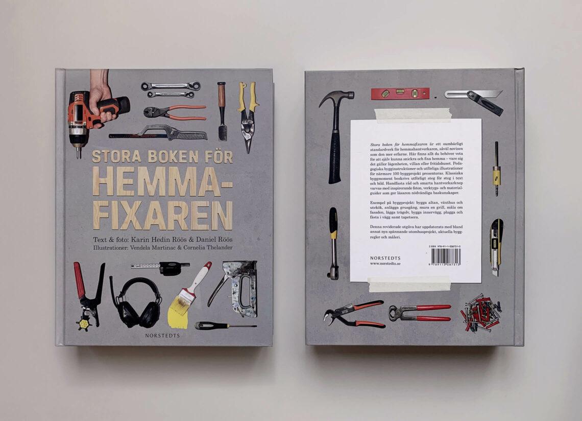 """Bokomslag (framsida och baksida) till """"Stora boken för hemmafixaren"""""""
